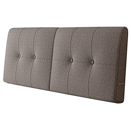 WENZHE Kopfteil Kissen Für Betten Bett Rückenkissen Rückenlehne Bettrückwand Flachs Softbar Zuhause Waschbar, 5 Farben (Color : B, Size : 180x58cm)
