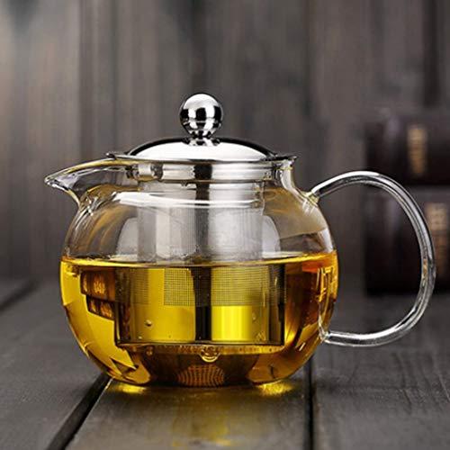 Hemore Teekanne, hohe Temperaturbeständigkeit, klares Borosilikatglas