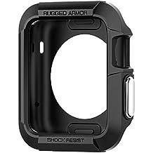 Spigen SGP11496 - Funda + 2 protectores de pantalla para Apple 42mm Watch, Negro