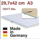 Bilderhalter rahmenlos, A 29,7 x 42 Clip-Rahmen, Bildträger DIN A3 mit Antireflexglas