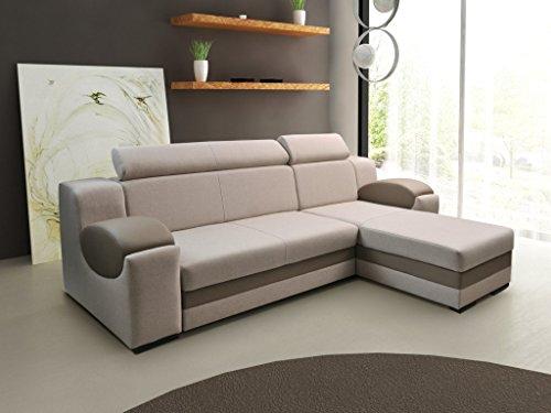 mb-moebel Ecksofa Sofa Eckcouch Couch mit Schlaffunktion und Bettkasten Ottomane L-Form Schlafsofa Bettsofa Polstergarnitur – Mercury