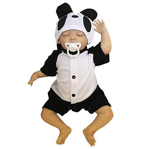 Domybest 48 cm Panda Tuch Baumwolle Simulation Puppe lebensechte realistische Vinyl Reborn Baby Puppe Toys Kinder mädchen Playmate Geschenke - Baby Tuch Puppe
