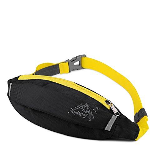 GXYLLDS Cintura Pack Deporte Correr Fitness Viajes Música Impermeable Seguridad Noche Reflexivo Bolso De Teléfono Móvil Hombres Y Mujeres Correa De Correr,Breathable(gray)-OneSize