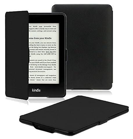 OMOTON Étui Housse Kindle Paperwhite Cuir PU Léger- Générations 2012, 2013, 2014 Et 2015 All-new 300 PPI Version Cover