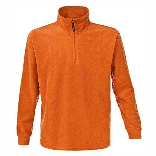 JAMES & NICHOLSON Jacke oder Sweatshirt in schwerer Fleece-Qualität Orange