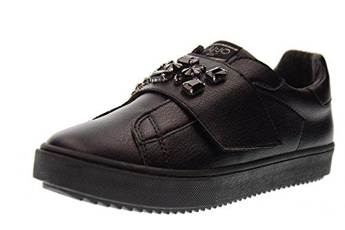 LIU JO GIRL Chaussures pour Femmes Bas Baskets sans Lacets UM23263 Noir