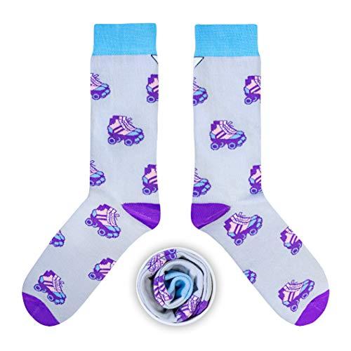 CUP OF SOX Baumwolle Lustige Socken in der Pappbecher - Perfekt als Geschenk für Männer und Frauen - Rollschuhe/Inlineskates/Inliner (Lila, 41-44)