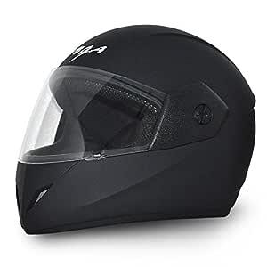Vega Cliff DX CLF-DX-DK_L Full Face Helmet (Dull Black, L)