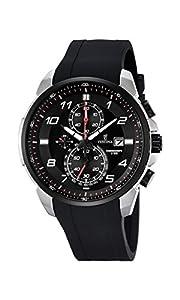 Festina CHRONO F6841/4 - Reloj de pulsera con cronógrafo para hombre (mecanismo de cuarzo, esfera negra y correa de caucho negro) de Festina