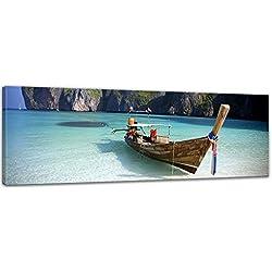 Bilderdepot24 Cuadros en Lienzo Maya Bay KOH Phi Phi Ley - Tailandia - 120 x 40 cm - Listo tensa, Directamente Desde el Fabricante