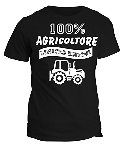 Tshirt 100% agricoltore Limited Edition - in cotone Nero