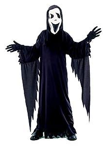 Ciao Disfraz Black Ghost talla L (7-9 años) Niños Unisex, Negro, 61019.L