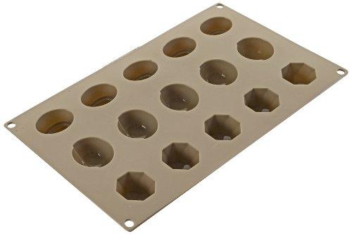 IBILI Mini Panna Cotta Mould 17x30x3 cm Silicone, Brown, 17 x 30 x 3 cm