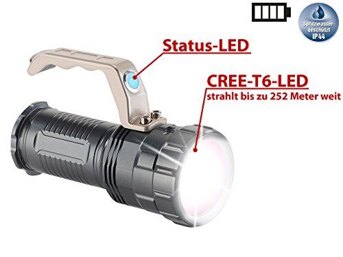 KryoLights Extrahelle Akku-LED-Handlampe TRC-410 CREE LED, 550lm, 10W, IP44 - 2