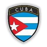 2x Pegatinas de vinilo de diseño de la bandera de Cuba de viaje equipaje # 10632