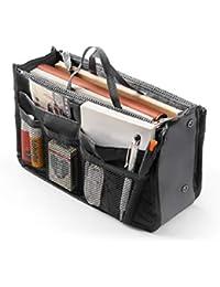 4b20cf747b309 Damen Reise Einsatz Handtasche Organizer Tidy Bag Geldbörse Liner Kosmetik  1 Stück (Schwarz) Paddy