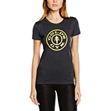Golds Gym Stronger Than The Boys Ladies Fitted Premium T-Shirt, Camiseta de Deporte Para Mujer
