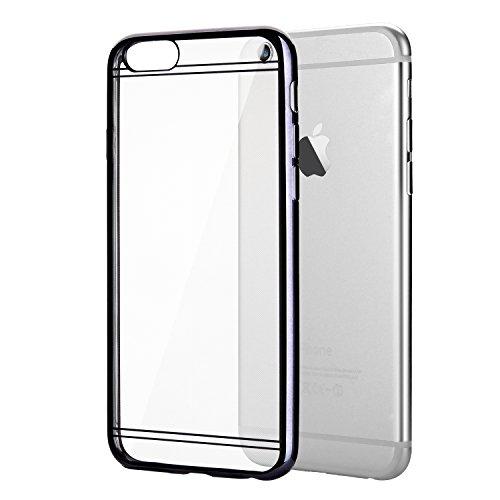 """Coque iPhone 6 / 6s (4.7""""), EnGive Housse étui de protection en silicone Couleur électrolytique pour iPhone 6 / 6s (4.7"""")(Doré) Bumper_Grau"""