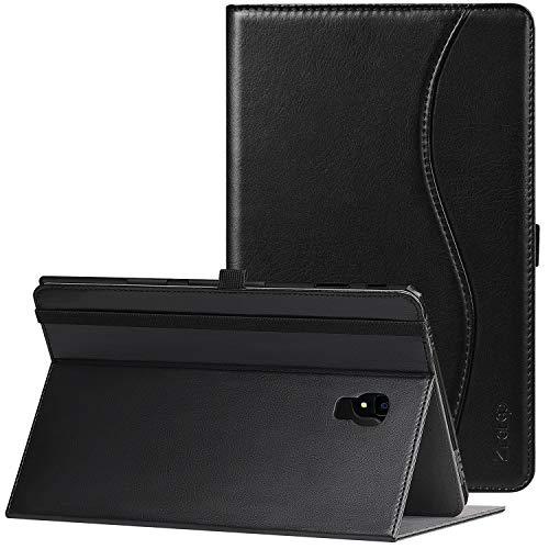 Ztotop Hülle für Samsung Galaxy Tab A 10,5 2018,für Modell SM-T590/SM-T595,Premium Leder Geschäftshülle mit Ständer,Kartensteckplatz,Auto Schlaf/Aufwach Funktion,Mehrfachwinkel,Schwarz