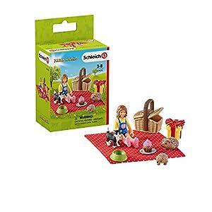 Schleich- Colección Farm World Figuras de Picnic de Cumpleaños, Multicolor (42426)
