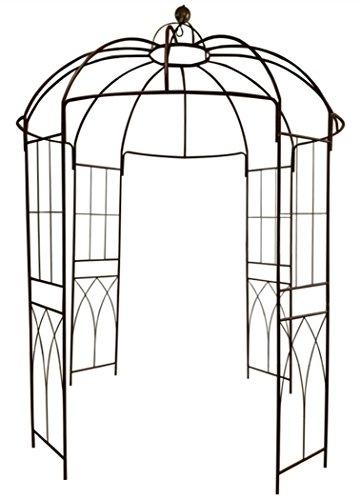 Outour®, gazebo a 4 lati a forma di gabbia per uccelli; traliccio ad arco in ferro battuto; gazebo, supporto per piante, viti e fiori