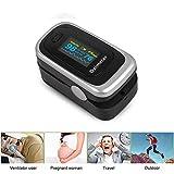 aimdonr Portable Instant Digital Finger Tip Pulsossimetro con display OLED, Lanyard