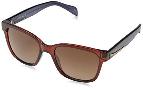 Karen Millen Sunglasses Sonnenbrille KM5014, Schwarz (Black), 56