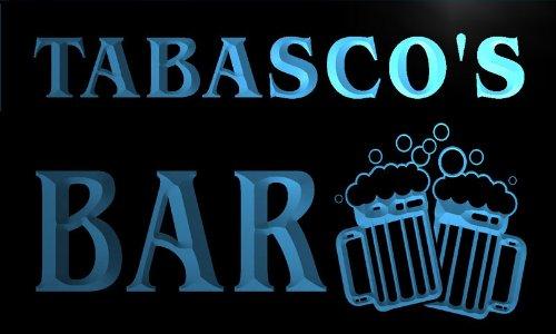 w107492-b-tabasco-name-home-bar-pub-beer-mugs-cheers-neon-light-sign