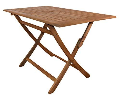 SAM Gartentisch Callao, Tisch 120x70 cm, Akazien-Holz, rechteckiger Balkontisch, massiv, FSC® 100{ece72603dfed922e3314fe01dde6bc7bce411750b2eb9cd047f47e479eae3e85} Zertifiziert