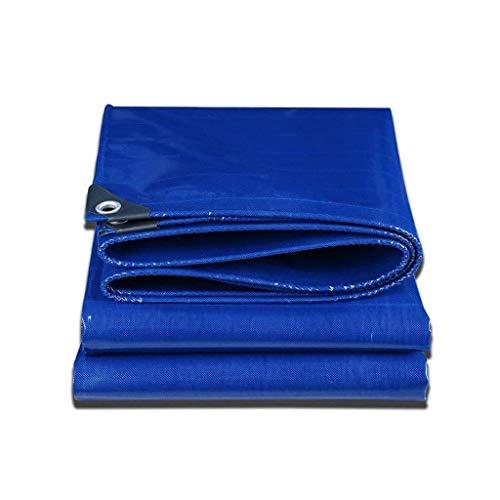 Tarps Blue Tarpaulin wasserdichtes Tuch Regen Sonnenschutzmittel Schuppen dick und langlebigFür den BAU von großen Outdoor-Hochleistungs-Camping-Picknickzelt Shelter Plate, Dicke 0,42 mm, 50