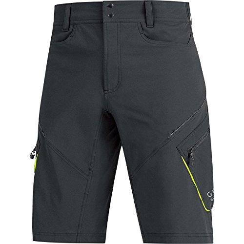 GORE BIKE WEAR, Pantaloncini Ciclismo Uomo Comfort, GORE Selected Fabrics, ELEMENT, Taglia XL, Nero, TELESP990006