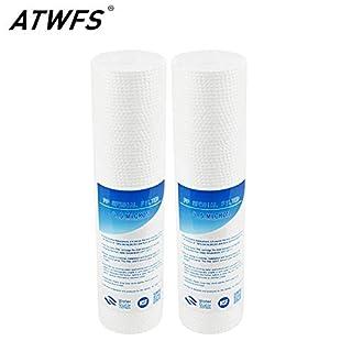 Tyro ATWFS 2 Stück 25,4 cm PP Baumwolle Akupunktur 0,5 Mikron Sediment Filter Wasserreiniger gemeinsame Frontfilter Kartusche Aquarium