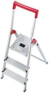 Hailo Alu - Leiter 3 Stufen 8933: Amazon.de: Baumarkt