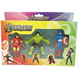 Parteet New Avenger Erasers Set of 3-for Birthday Party for Kids