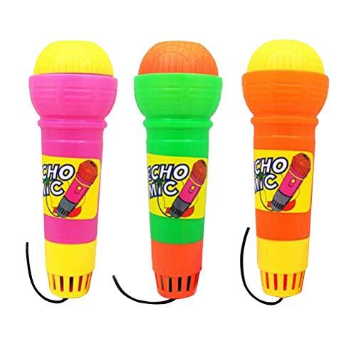 YeahiBaby 3 Stück Echo Mikrofon Kindermikrofon Kinder Mikrophon Spielzeug für Party Geburtstag Geschenke Mitgebsel (ohne Batterie)