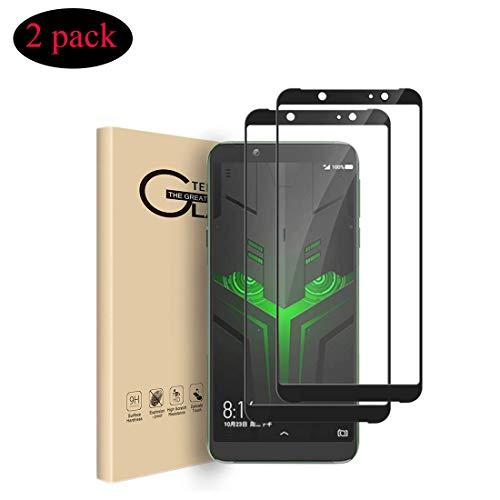 VICELEC Xiaomi Black Shark 2 Schutzfolie, [2 Stück] Panzerglas Folie, 9H Hartglas Ultra-klar Bildschirmschutz, Blasenfreie Bildschirmschutzfolie für Xiaomi Black Shark 2