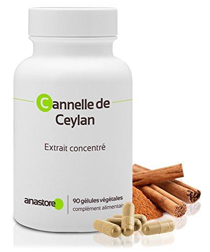 Cannelle de Ceylan* Antioxydant, contre les troubles digestifs* 250 mg / 90 gélules * Réduit le taux de glucose dans le sang * Fabriqué en FRANCE