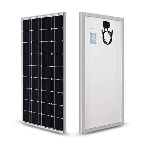RENOGY 100W 12 Volt Solarmodul Monokristallin Solarpanel Photovoltaik Solarzelle Ideal zum Aufladen von 12V Batterien Wohnmobil Garten Camper Boot