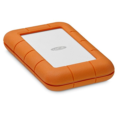 LaCie Rugged 1TB Thunderbolt USB C 6,4 cm (pollici) SSD Performance 510 MB/s Shock/Dust/Water Resistant