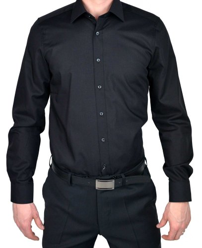 MARVELiS 6799–64–00 bODY-chemise-fIT 100%  coton blanc Schwarz