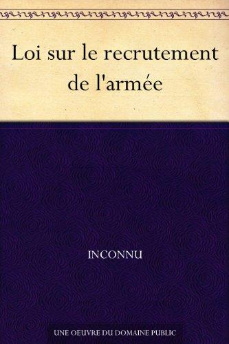 Couverture du livre Loi sur le recrutement de l'armée
