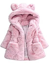Babykleidung,Sannysis Baby Mädchen Herbst Winter Kapuzenmantel Umhangjacke Dicke warme Kleidung 1-4Jahre