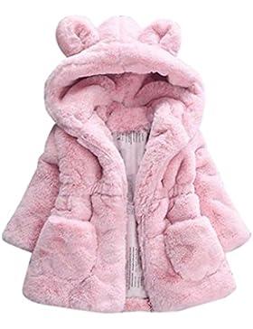 Babykleidung,Sannysis Baby Mädchen Herbst Winter Kapuzenmantel Umhangjacke Dicke warme Kleidung 1-4Jahre (100,...