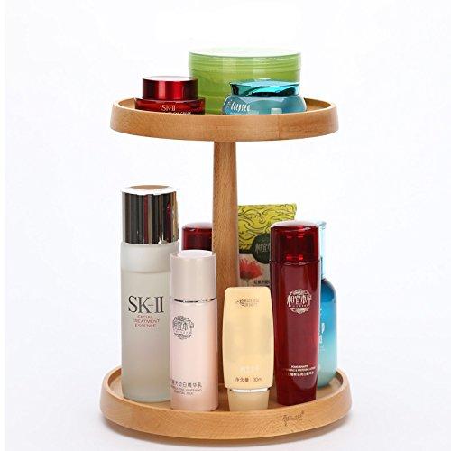 makeup organizer, Indeer girevole in legno trucco cosmetico organizzatore box