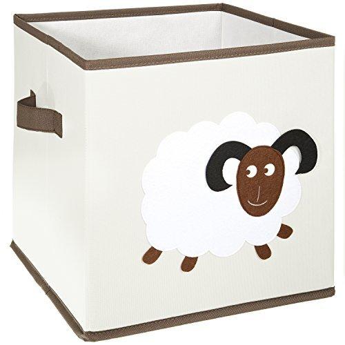 FABELBUNT® Caja para juguetes con diferentes motivos de animales y mucho espacio para almacenar (30x 30x 30cm)