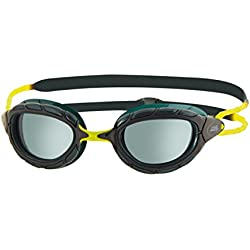 Zoggs Predator Gafas de Natación, sin Género, Negro/Verde (Black/Green/Smoke), Talla única
