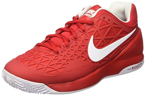 Nike Zoom Cage 2 Clay, Scarpe da Tennis Uomo, Multicolore (Univ Red/White), 46 EU