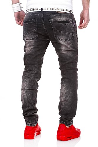 MT Styles Destroyed Jeans Slim Fit pantalon RJ-2056 Noir