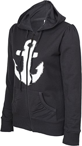 Küstenluder WHITE ANCHOR Anker Sailor Hooded Zip Sweat JACKE Rockabilly -