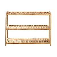Premier Housewares Wood Shoe Rack, 30 x 79 x 26 cm - Natural